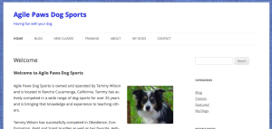 Agile Paws Dog Sports homepage